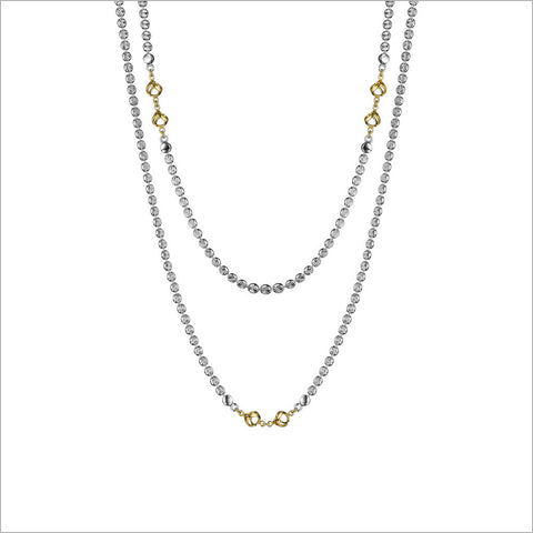 "Diamante 18K Yellow Gold Plated & Silver 42"" Necklace"