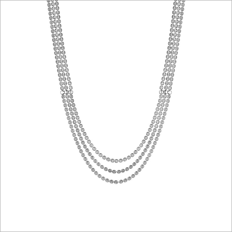 "Diamanté Sterling Silver 18"" Drape Necklace"