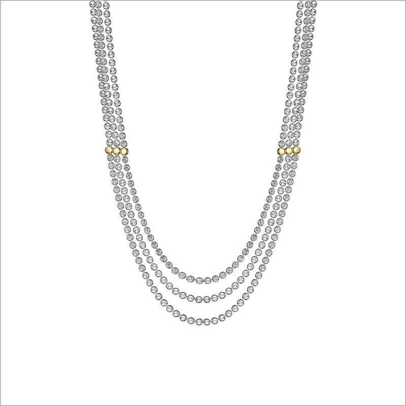 "Diamanté 18K Gold Plated & Sterling Silver 18"" Necklace"