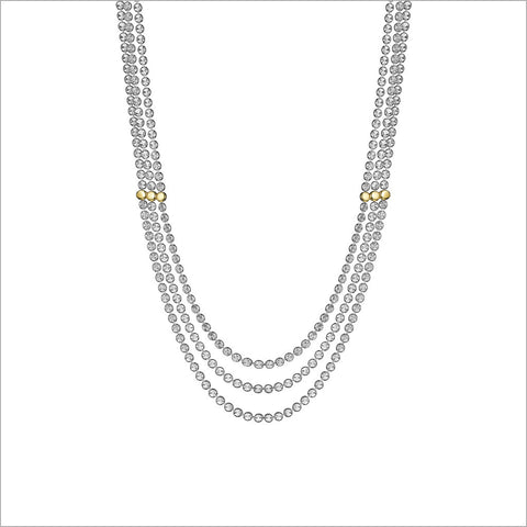Diamante 18K Gold Plated & Sterling Silver Necklace