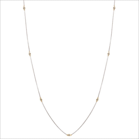 "Diamante 18K Gold & Silver 42"" Necklace"