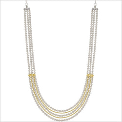 "Diamanté 18K Gold & Sterling Silver 18"" Necklace"