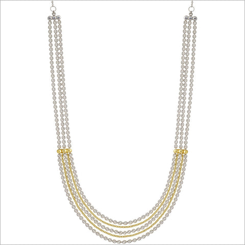Diamante 18K Gold & Silver Necklace