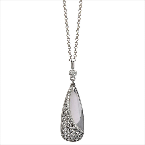 Ricamo Sterling Silver Necklace with Diamonds