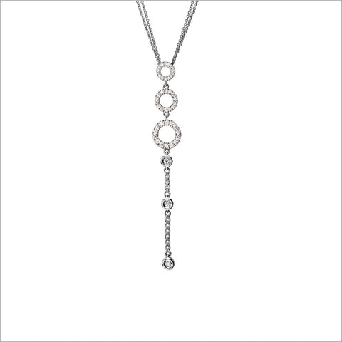 Eterno 18K White Gold & Diamond Lariat