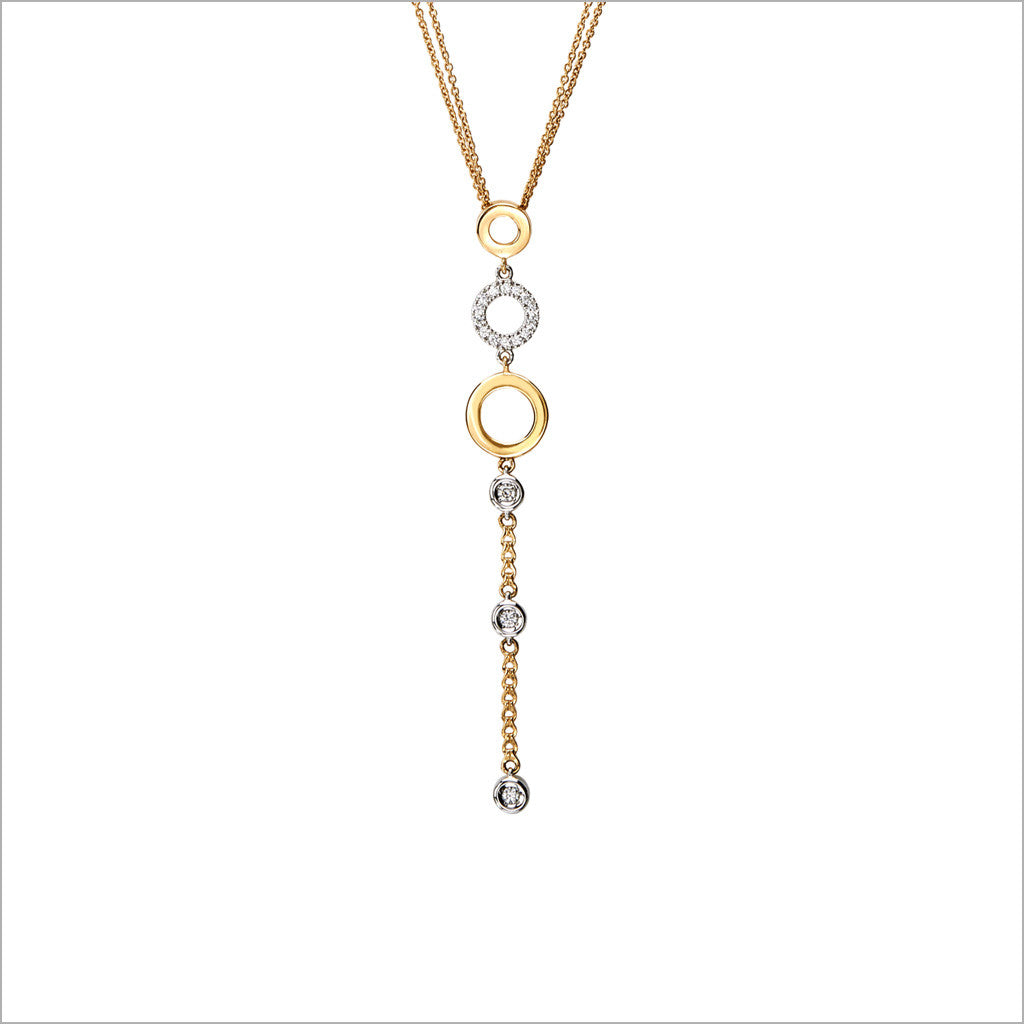 Eterno 18K White and Yellow Gold & Diamond Necklace