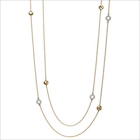 "Eterno 18K Yellow and White Gold & Diamond 42"" Necklace"