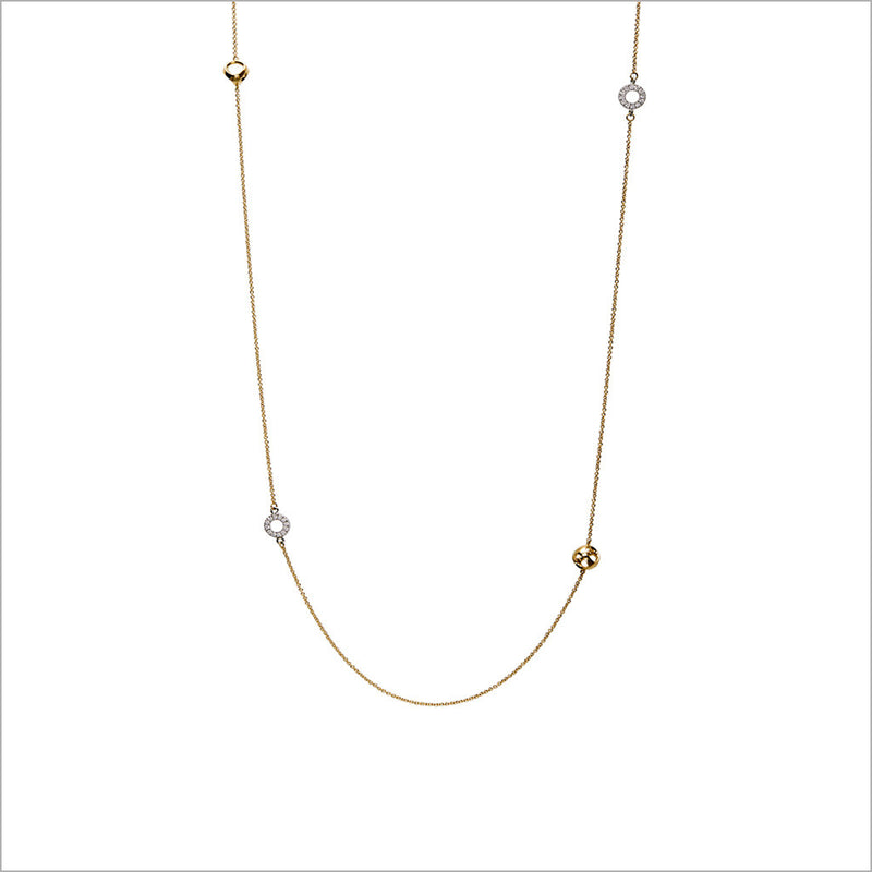 "Eterno 18K White and Yellow Gold & Diamond 18"" Necklace"