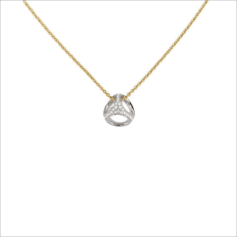 Icona 18K Gold & Diamond Small Cage Necklace