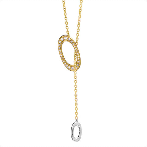 Allegra 18K Yellow & White Gold Necklace with Diamonds