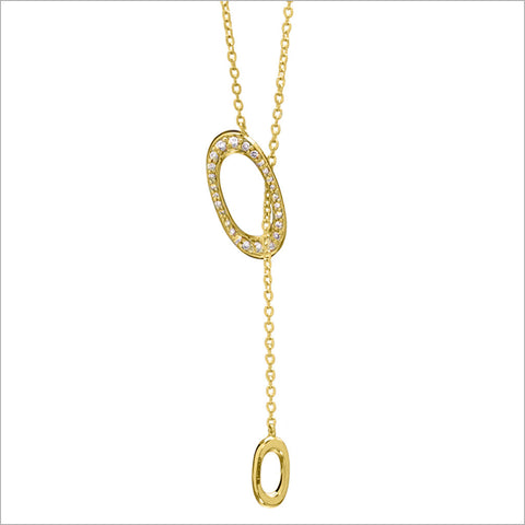 Allegra 18K Yellow Gold Necklace with Diamonds