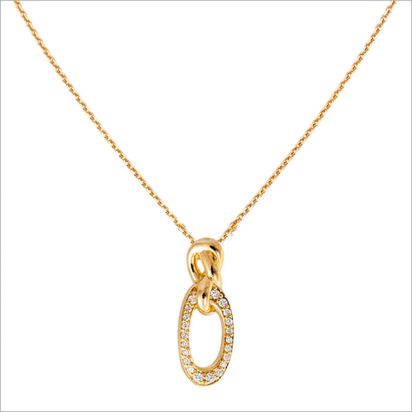 Nodo 18K Yellow Gold & Diamond Necklace