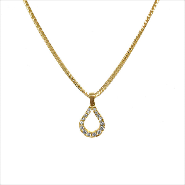 Fiamma 18K Gold & Diamond Small Pendant