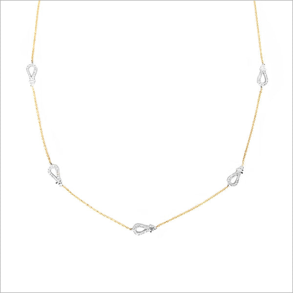 Fiamma 18K Gold & Diamond Station Necklace