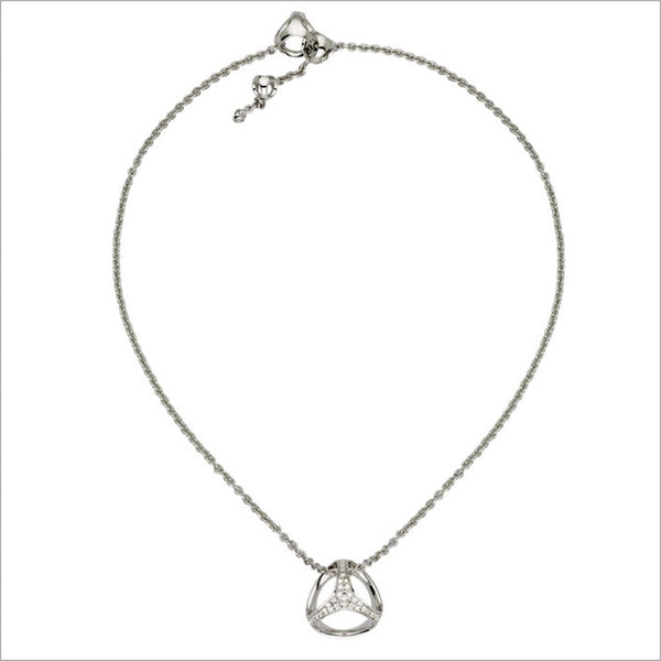 Triadra 18K White Gold Necklace with Diamonds