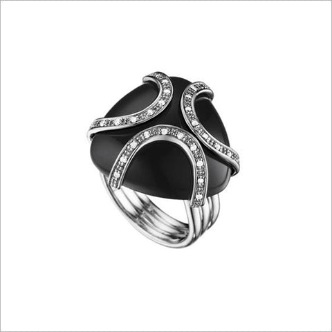 Spirit Silver & Black Onyx Ring