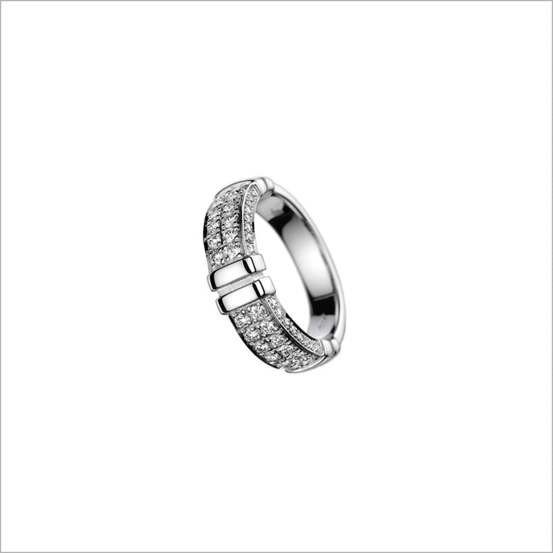 Quadria 18K White Gold & Diamond Ring