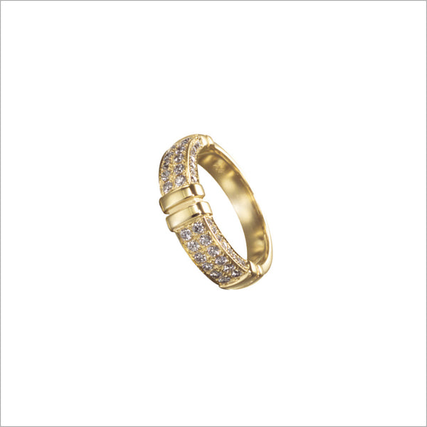 Quadria 18K Yellow Gold & Diamond Ring