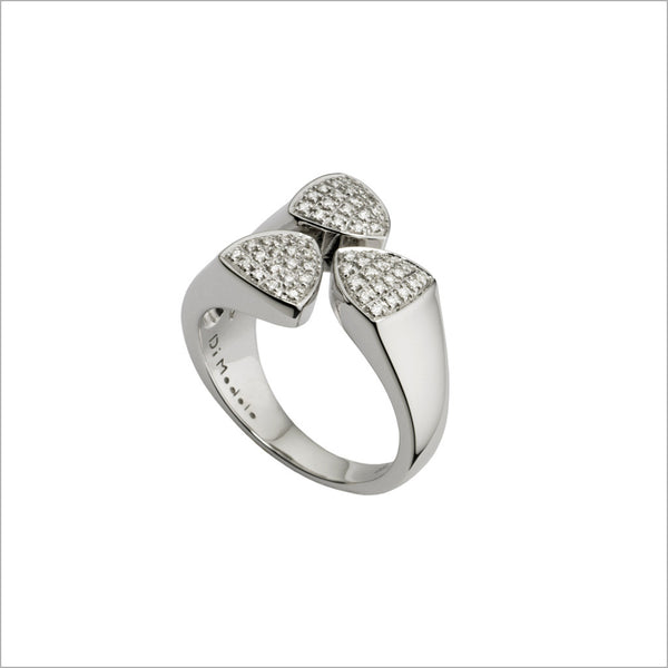 Triadra 18K White Gold Ring with Diamonds
