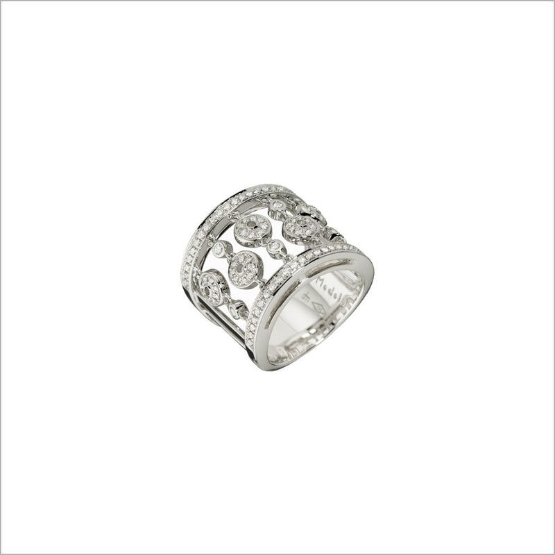 Tempia 18K White Gold & Diamond Ring