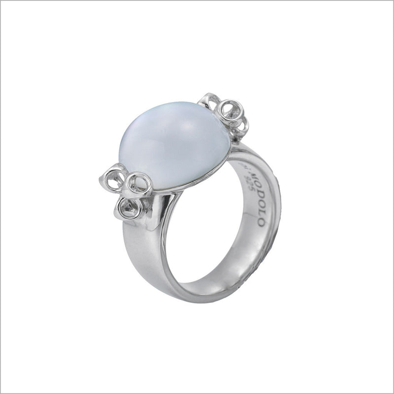 Icona Mother of Pearl Bubble Ring in Sterling Silver