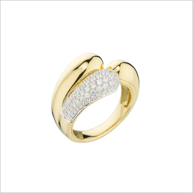 Triadra 18K Yellow Gold & Diamond Ring