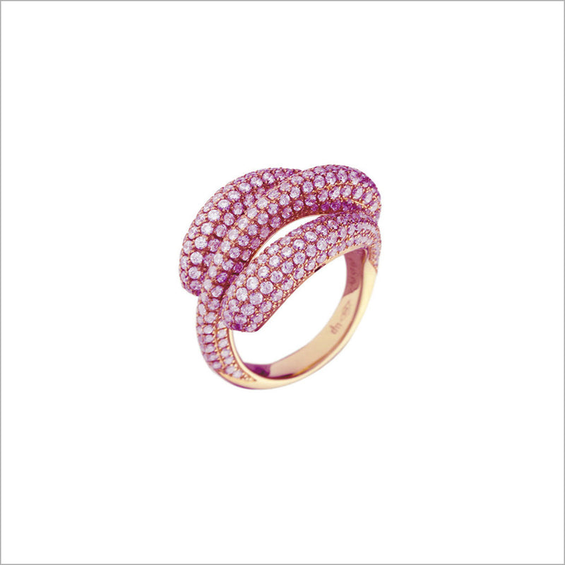 Triadra 18K Rose Gold & Diamond Ring