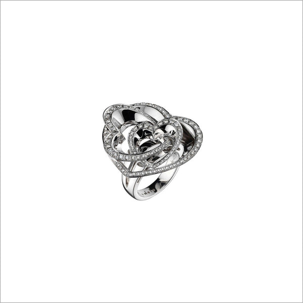 Fiamma 18K White Gold & Diamond Heart Ring