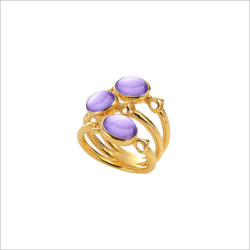 Lolita Amethyst Ring in Sterling Silver plated with Gold