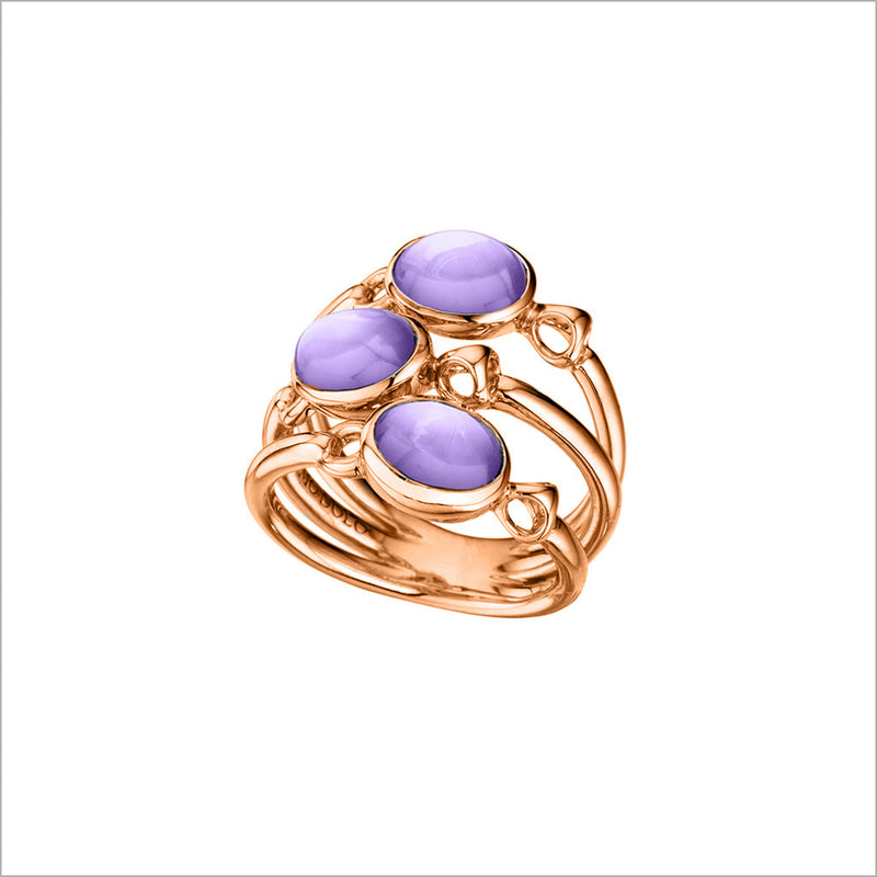 Lolita Amethyst Ring in Sterling Silver plated with Rose Gold