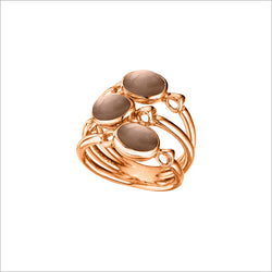 Lolita Smoky Quartz Ring in Sterling Silver plated with 18k Rose Gold