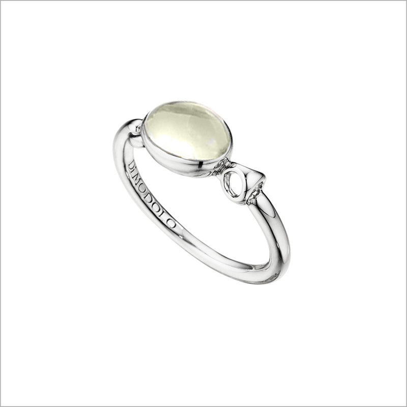 Lolita Green Amethyst Ring in Sterling Silver