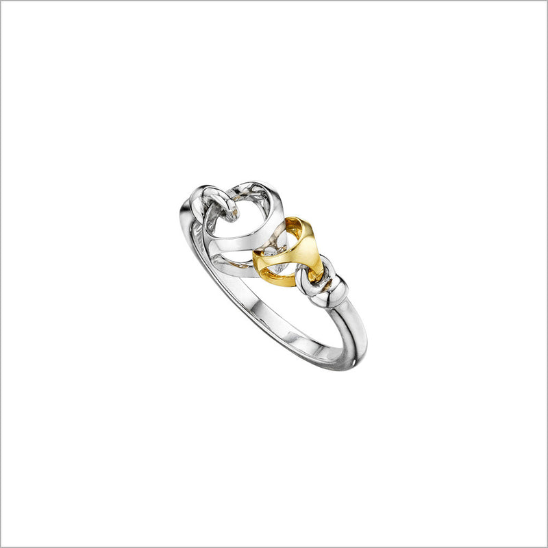 Linked By Love Silver & Gold Ring
