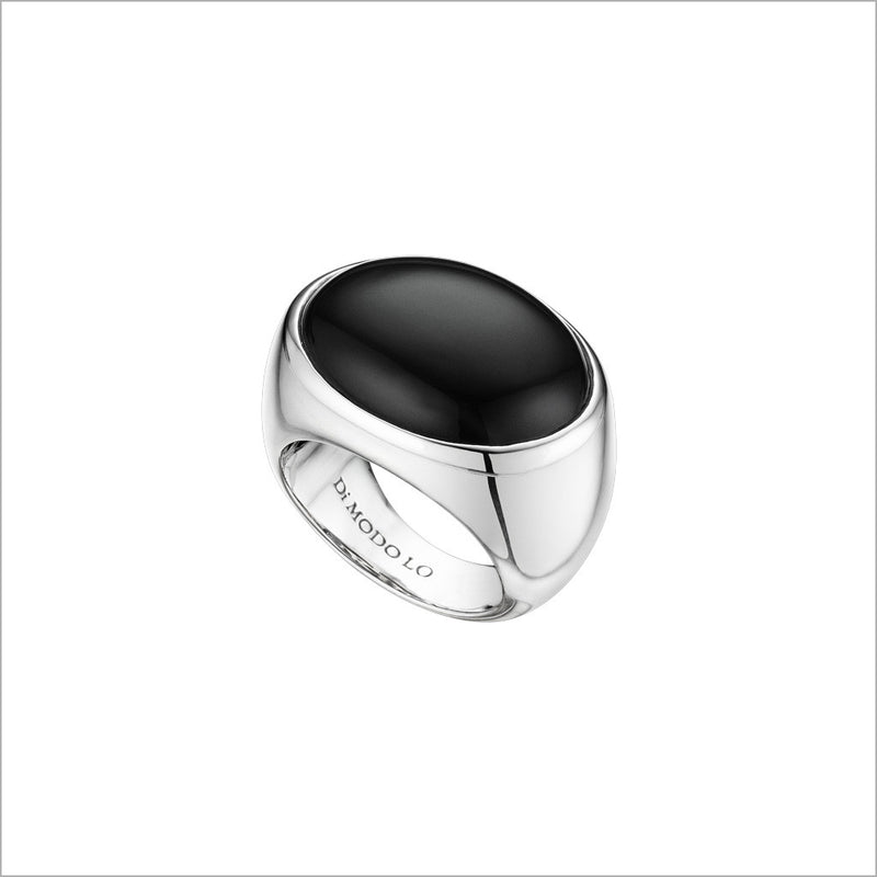 Sahara Ring in Sterling Silver with Black Agate