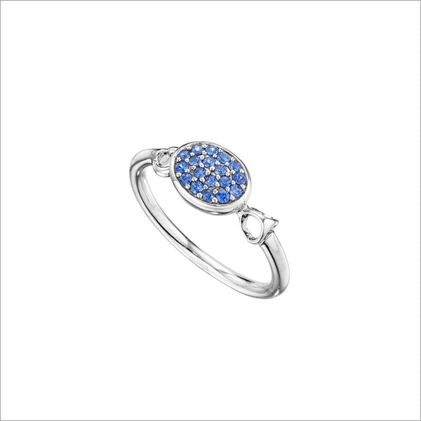 Lolita Blue Sapphire Ring in Sterling Silver