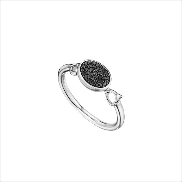 Lolita Black Diamond & Sterling Silver Ring