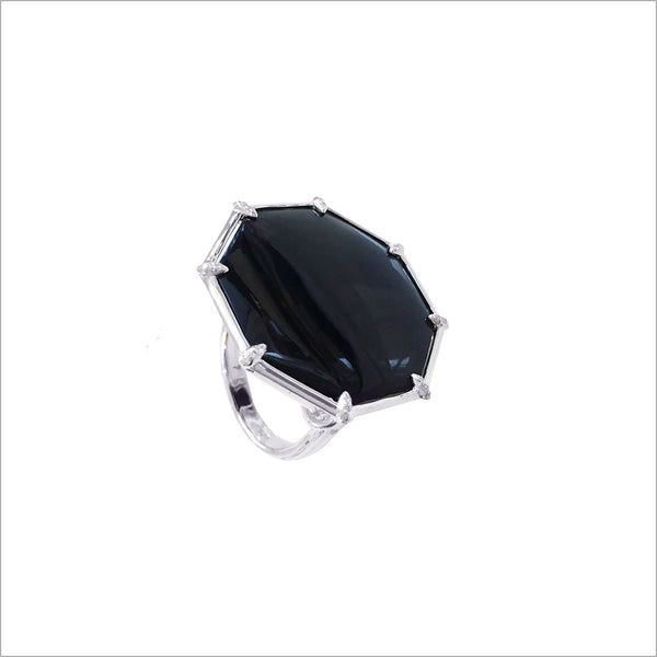 Icona Black Onyx & Sterling Silver Large Ring