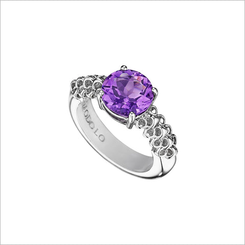 Icona Eternity Amethyst Ring in Sterling Silver