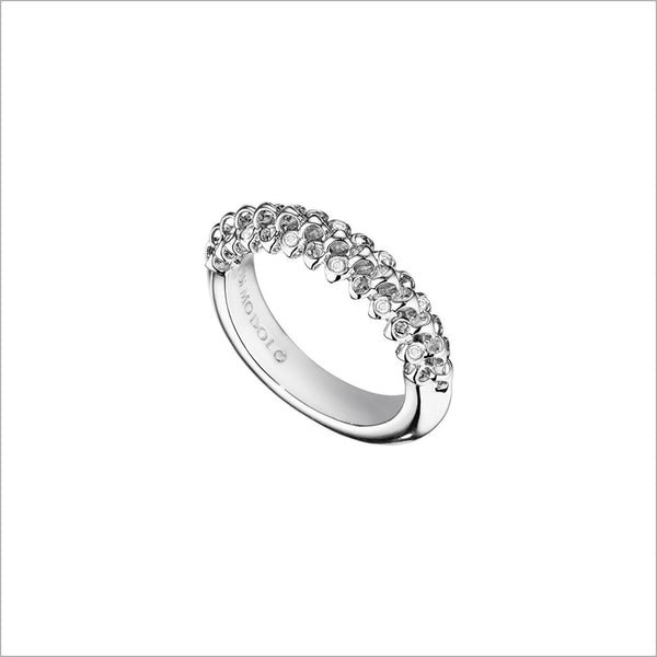 Icona Eternity Ring with Diamonds in Sterling Silver