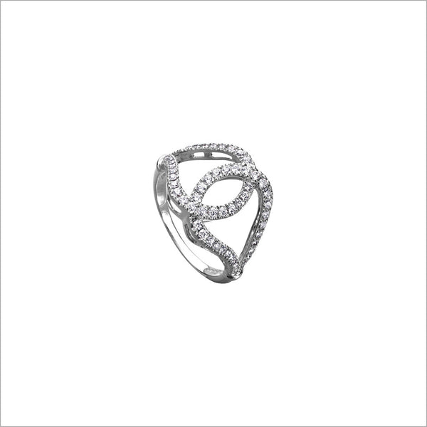 Fiamma 18K White Gold & Diamond Ring