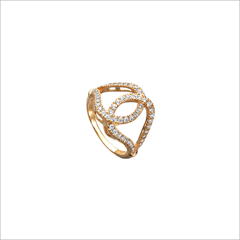 Fiamma 18K Yellow Gold & Diamond Ring