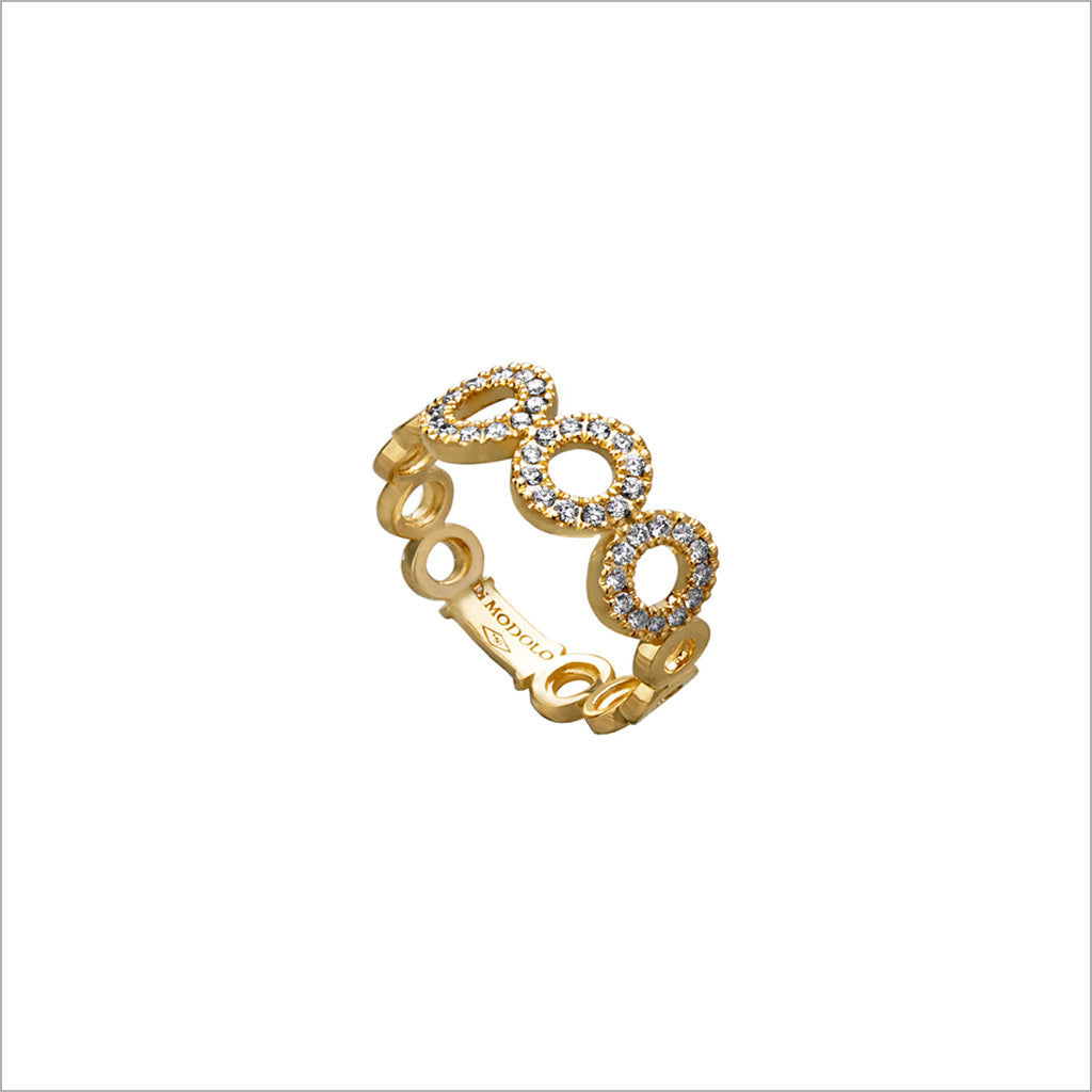 Eterno 18K Yellow Gold & Diamond Ring