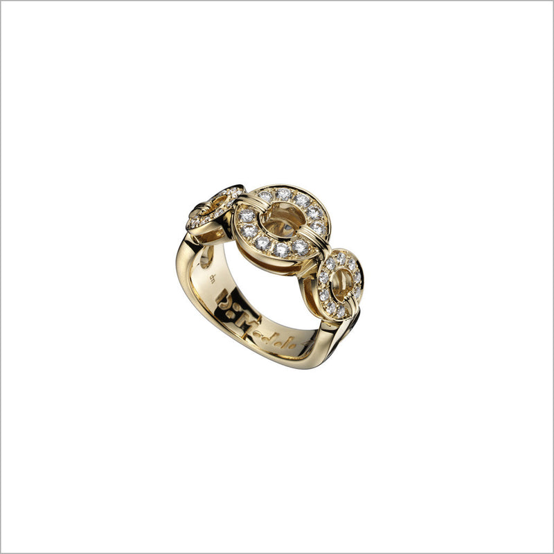 Tempia 18K Yellow Gold & Diamond Ring