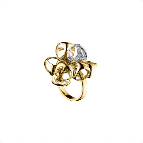 Icona 18K Yellow & White Gold Cluster Ring with Diamonds
