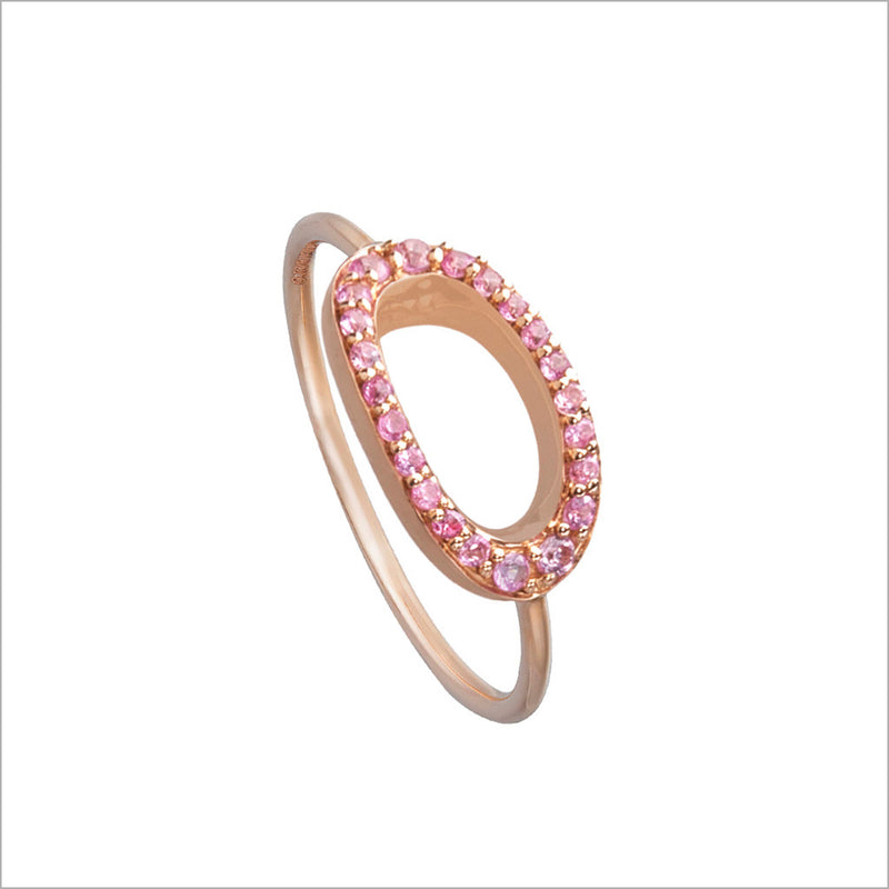 Allegra 18K Rose Gold & Pink Sapphire Stackable Ring