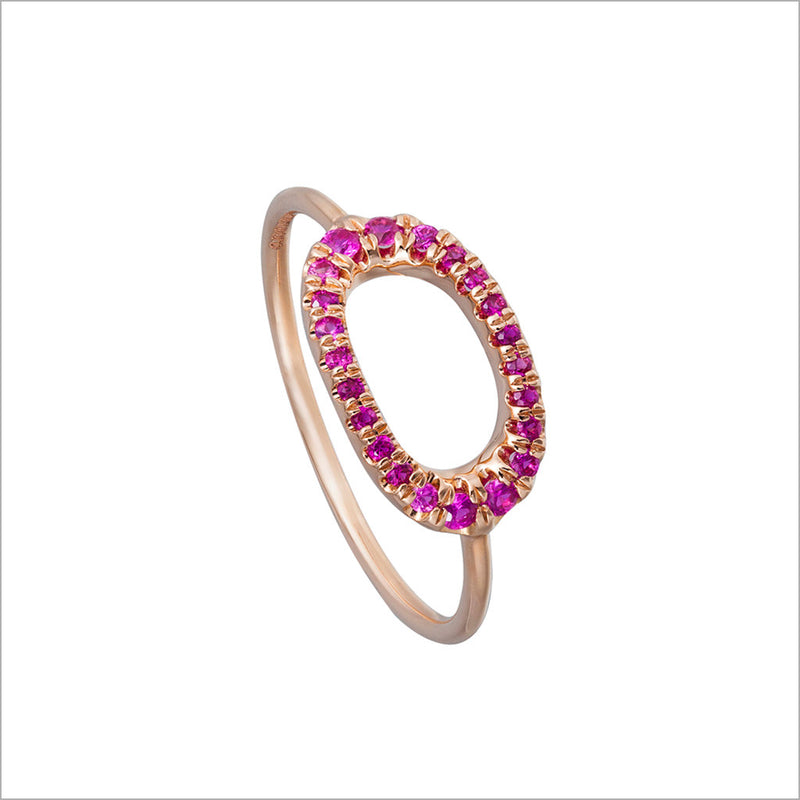 Allegra 18K Rose Gold & Rubellite Stackable Ring