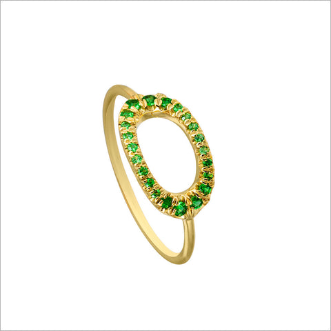 Allegra 18K Yellow Gold & Tsavorite Stackable Ring