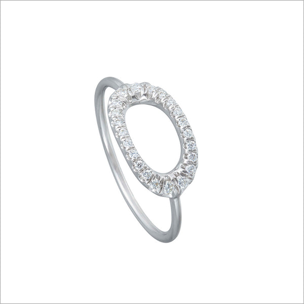Allegra 18K White Gold Ring with Diamonds