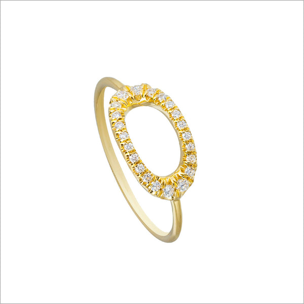 Allegra 18K Yellow Gold Ring with Diamonds