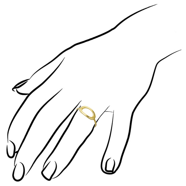 Allegra 18K Yellow Gold Stackable Ring